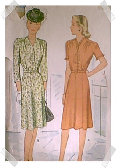McCalls Woman's / Ladies / Misses Shirtwaist Dress Pattern #5680 c.1944