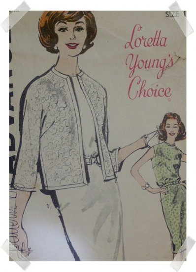 Advance #9866 Sz 16 Sheath/Jacket Loretta Young Pattern