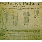 Antique Butterick #1272 Night Drawers / Hood c. 1900