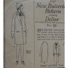 Butterick #1907 Sz 8 Girls Coat/Beret Patterm c. 1920