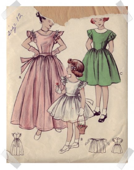 Butterick #5810 Childs Sz 8 Party Dress Pattern