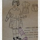 Pictorial Review #7050 Sz 4 Girls Kimono Dress Pattern c. 1910