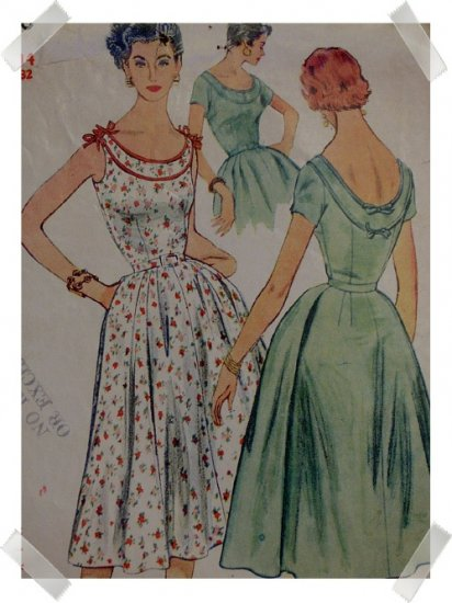 Simplicity #4670 Sz 14 Sun Dress Pattern c. 1950