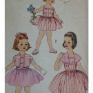 Simplicity #2519 Childs Sz 5 Sundress Pattern c.1950s