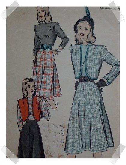 Hollywood #1957 Sz 12 misses / Ladies Blouse/Bolero/Skirt Pattern