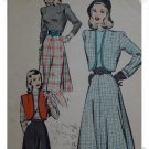 Hollywood #1957 Sz 12 misses / Ladies Blouse/Bolero/Skirt Pattern