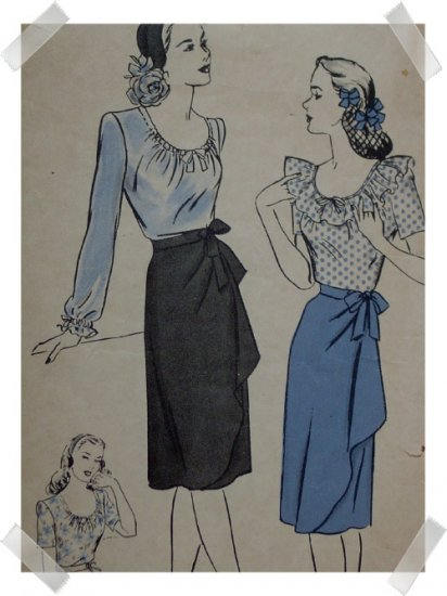 Hollywood #1356 Sz 14 Misses / Ladies Skirt/Blouse Pattern