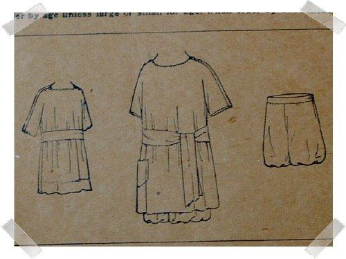 Antique New Idea Pattern #9514Dress/Bloomers Pattern Sz 4 yrs c. 1910