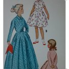 McCalls #9200 Girls Robe Pattern Sz 6  c. 1952