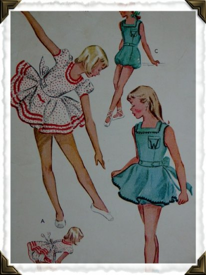 McCalls #1785 Girls sz 10 Vintage Dance Costume Pattern