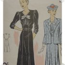 DuBarry #2225 Woman's Dress/Jacket Pattern c. 1935