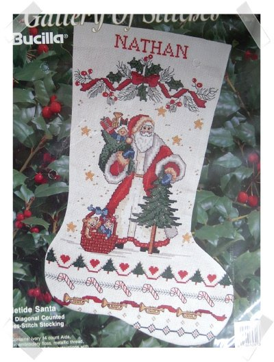 Bucilla Needlepoint Stocking Kit ~ Yuletide Santa
