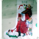 Needlepoint Stocking Kit ~ ANTIQUE SANTA