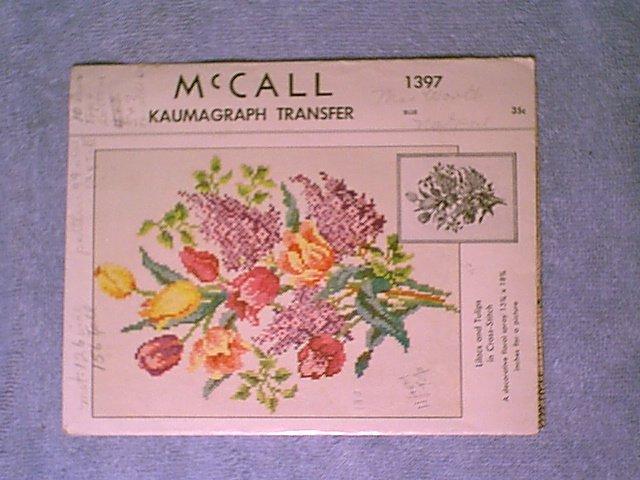 Vintage McCalls Kaumagraph #1397 Lilacs-Tulip