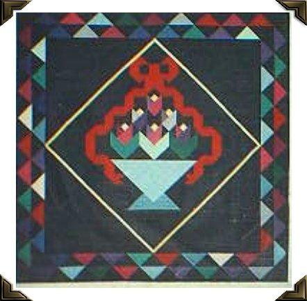 Ribboned Tulip Basket Quilt Pattern