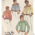 Simplicity #6693 Mens Western Shirt Sz 42/44