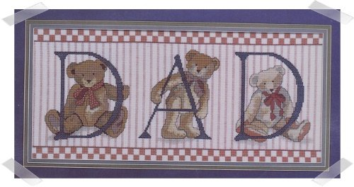 Candamar Designs ~ DAD TEDDY BEARS Cross stitch Kit