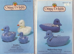 Orange Delights ~ Puddles & Mallard Door Stop