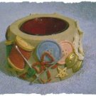 Candle Votive - Sewing Design of Buttons, Thread & Needles