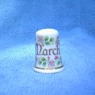 Birchcraft Fine Bone China Thimble ~ March