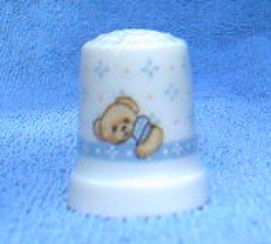 Cherished Teddies Ceramic Thimble