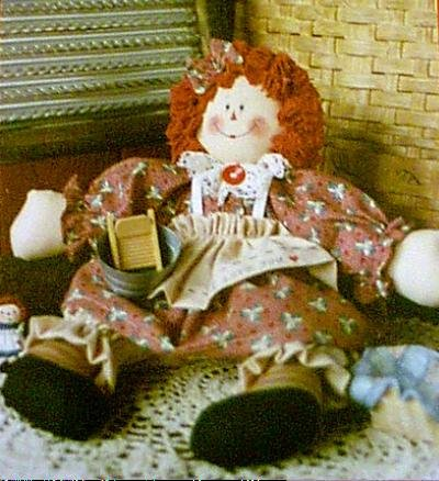 Bonnie B Button ANNIES WASH DAY DOLL Pattern