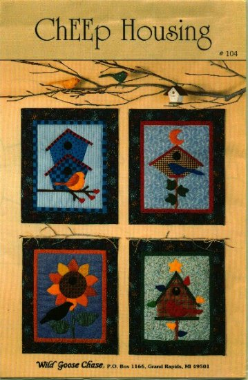 4 Seasons Mini Quilt Pattern ~ Bird Houses