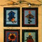 4 Seasons Mini Quilt Pattern ~ Bird Houses