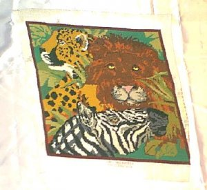 Prestitched Needlepoint Panel ~ King of the Jungle