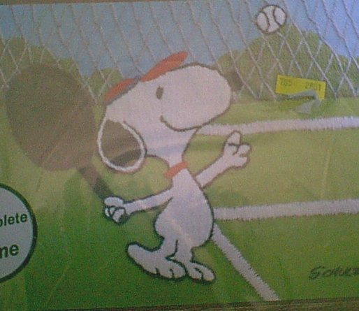 Peanuts TENNIS SNOOPY Crewel Kit