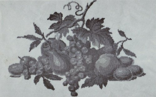 Vintage 1940s Petit Point Chart - Large Fruit