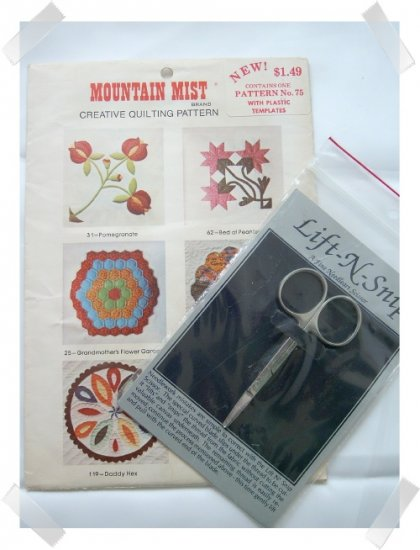 Dresdan Plate Pattern & Lift-N-Snip Scissors