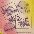 Aunt Marthas Iron Transfer Pattern  - Poinsettia & Holly
