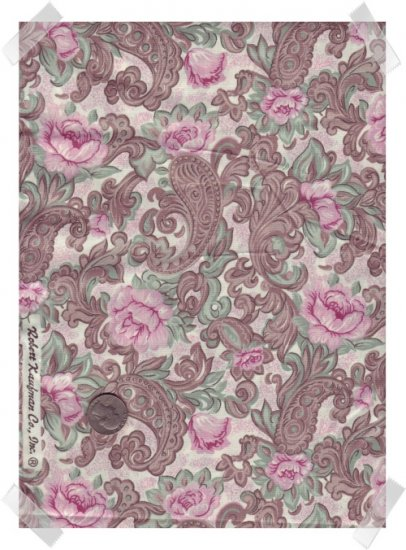 Robert Kaufman 100% Cotton Fabric ~ Pink Roses & Paisley Flowers 2 Yds