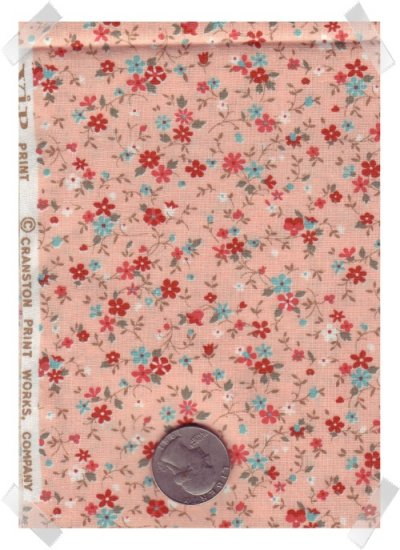 VIP PEACH CALICO Quilting & Crafting Cotton Fabric 1 yd