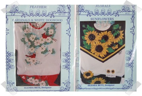 2 Glendas Fashion Iron On Painting Pattern for Clothing ~ FLOWERS