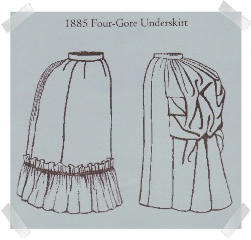 Truly Victorian #TV261Reproduction Pattern ~ 1885 Four Gore Underskirt