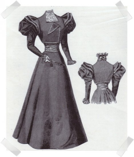 Ageless Patterns #1176 Victorian Reproduction Pattern ~ 1896 Costume with Bolero Jacket