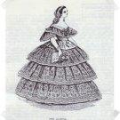 Heidi Marsh Pattern Godey Reproduction Pattern ~ The Alameda 1859 FLounced Ball Dress