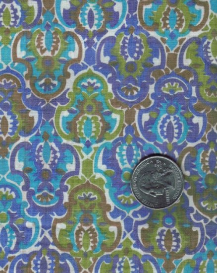 "Quilting / Crafting Vintage 50s/60s 100% Cotton Fabric ~ 36"" x 1 yd"