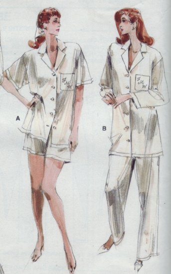 Vogue Pattern #7054 ~ Men's Style Pajama & Robe Sz 8-10-12
