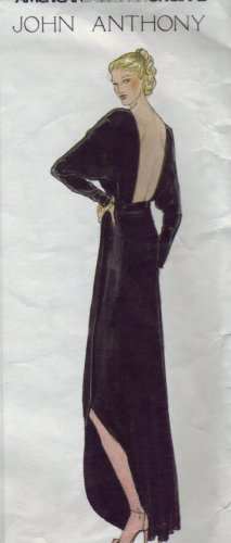 Vogue Designer Pattern JOHN ANTHONY Gown