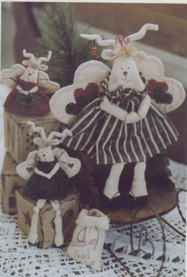 Twice As Nice Pattern #150 ~ Missy'Toe Stuffed Reindeer