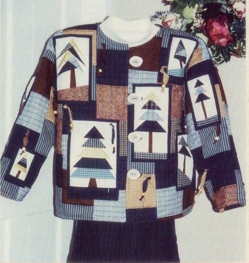 Eileens Design Studio Pattern ~ Tree-Mendous Quilted Jacket