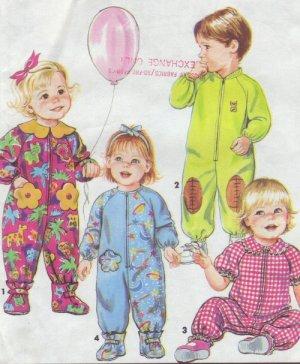 Simplicity #7595 Childs Zip Front Sleepers Sz 2 - 4