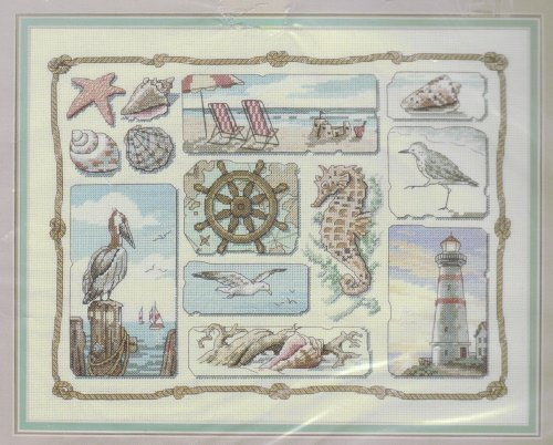 Sunset Counted Cross Stitch Kit ~ Shore Sampler