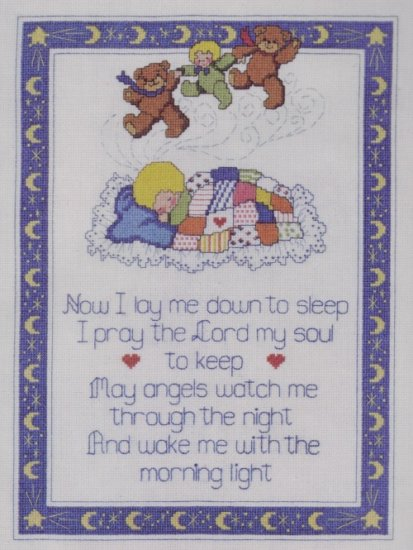 Dimensions Counted Cross Stitch Kit ~ Bedtime Prayer