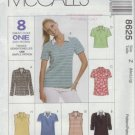 McCalls #8625 Woman's Casual T-Shirt Pattern Sz Med