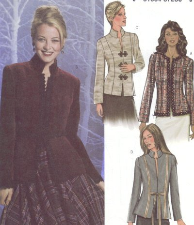 Butterick #4028 Woman's Jacket Pattern Sz 6 - 8 - 10