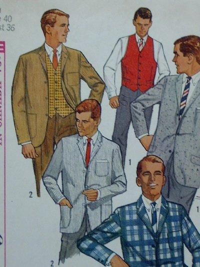 Simplicity #5697 Vintage Men's IVY LEAGUE JACKET Pattern - Sz 40